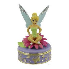Disney Classic Jewelled Trinket Box - Sitting Tinker Bell in Gift Box