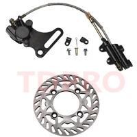 Rear Hydraulic Disc Brake Rotor Caliper Master Cylinder Dirt Pit Bike SSR CRF50