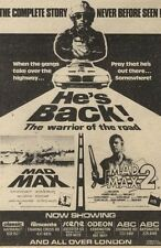 19/3/83PN24 MOVIE ADVERT 7X5 MAD MAX 2 (MEL GIBSON)