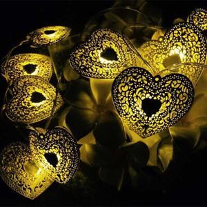 Holiday Fairy Light Hollow Heart Decoration Christmas Party Decor String Light