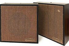 Pair Vintage Wooden Wall Speaker Pa School Church Tested Working Usa Trend Quam