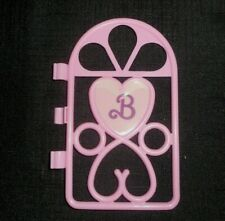 Vintage 1987 Arco Barbie Blinking Beauty Coral Pink Door Part Piece Accessories