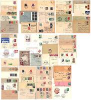 Sammlung von Belegen All. Besatz. & Saarland & Fr. Zone Notopfer