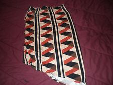 Cute Asymmetric Pencil Rayon Stretch Gathered Skirt Size Small NWT