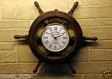"Wooden Wheel Clock for Wall 15"" ✿ Sheesham Wood Vintage Antique type ✿Home Decor"