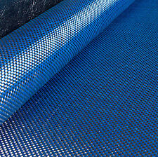 Colored CARBON Fibre Cloth Blue KEVLAR Fabric Plain Weave Material 127cm x 28cm