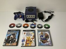 Nintendo Gamecube Blue Console + Leads Controller And 9 Games