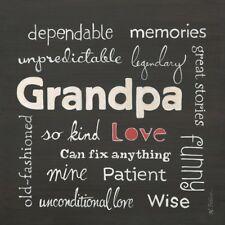 Grandpa Love Karen Tribett Art Print 12x12