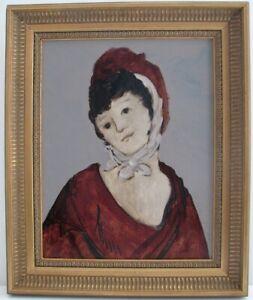 STEPHEN WHITE Original Oil Painting Female Portrait Woman Listed American Artist