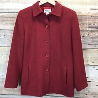 Pendleton Wool Button Front Blazer 10 Red Jacket