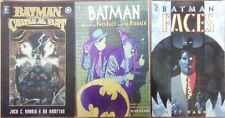 BATMAN: FACES / CASTLE OF THE BAT / BATMAN:  TWO - FACE AND THE RIDDLER 1ST EDS.