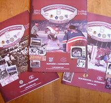 3 rare original six 6 salute souvenir /Montreal CANADIEN Chicago Boston New York