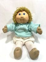 Vtg 1985 Coleco Cabbage Patch Kids Doll Blonde Yellow Hair w/Clothes #2 HM
