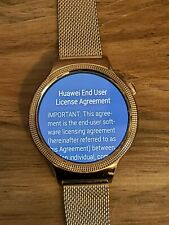 Huawei Watch First Gen 42mm Rose Gold Band - Android and Apple Smart Watch