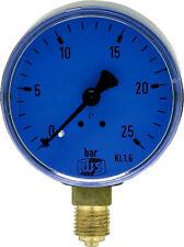 Öldruckmanometer ohne Glyzerin 0 - 25 bar 63 mm für Pumpenprüfkoffer Manometer