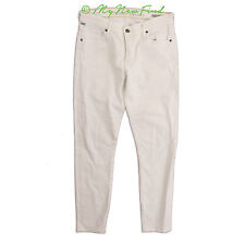 """CITIZENS OF HUMANITY THOMPSON 29"""" MID-RISE SKINNY STRETCH JEANS WHITE SZ 28 B92"""