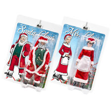 Set of 2 Figures: Santa & Mrs. Claus 8 Inch Retro Action Figure [2018 Editions]