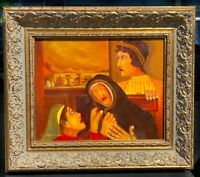 Original Oil Painting Ruth And Naomi Christian Fine Art By Lucien Daigneault