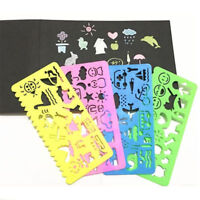 4pcs Children DIY Art Drawing Stencils Picture Painting Template Kit Set Gift