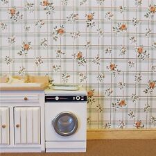 Dolls house wallpaper 2 x large sheets ROSE CHECK [175]
