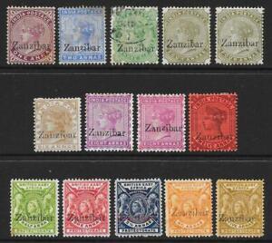 Zanzibar 1895-96 Used & Unused Selection