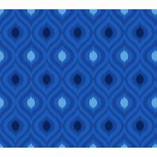 """Fabric African Design Damask Royal Blue Duck Cotton Canvas 33"""""""