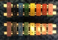 2 Rare Vintage Childrens 8 Key Xylophone No Mallets Vg Preowned Condition