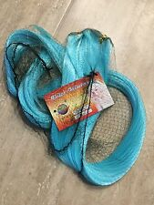 """42"""" Long Light Blue Synthetic Hair Extension Weft"""