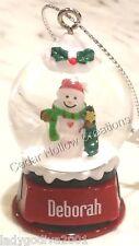 Personalized Snow Globe Ornament - Deborah - FREE Shipping