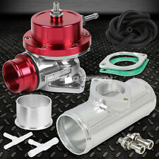 """UNIVERSAL BILLET ANODIZED TYPE-S TURBO BLOW OFF VALVE BOV+2.5"""" FLANGE PIPE RED"""