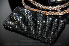 Genuine Diamond Case Bling Black Crystal Hard Cover Skin For iPhone X XR XS Max