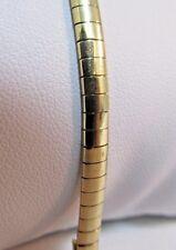 """14k Solid Gold OMEGA Bracelet--7.25""""L.  by AURAFIN.  SAVE $1,000.  #671"""