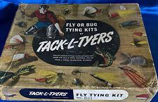 Tack-L-Tyers Fly Tying Kit Fishing Lure Advertising Box Evanston Il Rare Full Vg