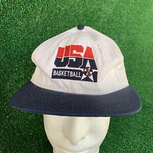 Vintage 90s USA Basketball AJD Snapback Hat Dream Team Olympics NBA America Cap