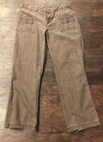 Magellan Sportwear Womens Brown Jeans Button Down Pockets 12 medium 100% Cotton