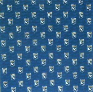 Bandanna for Kansas City Royals Baseball on Blue 100% Cotton #652 Handmade