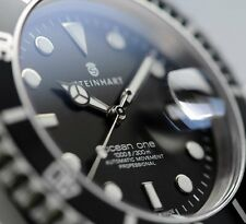 STEINHART OCEAN 1 BLACK (  BRAND NEW  ) Mens Diver Watch T0204 Swiss ETA 2824-2