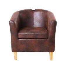 Chaises marron en cuir pour le bureau