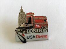 Juegos Olímpicos de Londres 2012 Pin Insignia-Usa Buceo