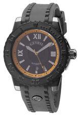 Gevril Men's 3112 Seacloud Automatic Luminous Black Rubber Date Wristwatch