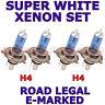 TVR 350 1982-1991 SET OF 2X H4 H4  SUPER WHITE HALOGEN  XENON LIGHT BULBS