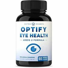 Eye Vitamins with Lutein and Zeaxanthin - AREDS 2 Formula for Macular Degenerati