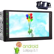 "7"" Android 5.1 Double DIN Sat Nav Car GPS Stereo Bluetooth Radio WiFi 4G+CAMERA"