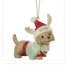New ListingPrecious Moments Dated 2020 Dog Ornament Dachshund Through The Snow New 201008