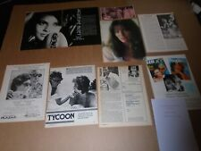 28+ JACQUELINE BISSET -  CUTTING/CLIPPINGS FROM MAGAZINES - 1968 - 1998