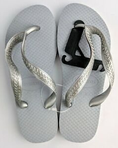 Havaianas Unisex Thongs Grey/Silver Size 35/36 NEW
