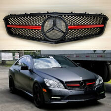 Gloss Black Grille Fit BENZ W207 C207 Coupe Conv. 2010-2013 E-Class Red Metallic