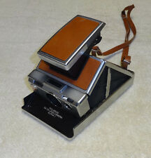 Vintage Polaroid SX-70 Land Camera Alpha 1 Instant Brown with Original Strap