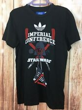 ADIDAS Black Lucas Film Star Wars Imperial Conference Limited Edition T-Shirt S