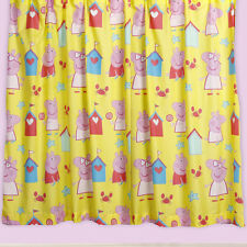 Peppa Pig Seaside Bedroom Childrens Character Printed 66x54 Ready Made Curtains